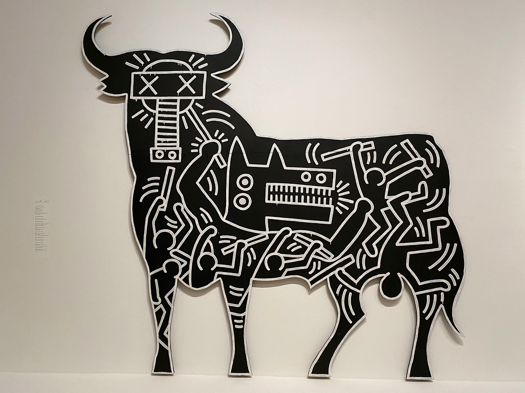 Bull with mask by Keith Haring
