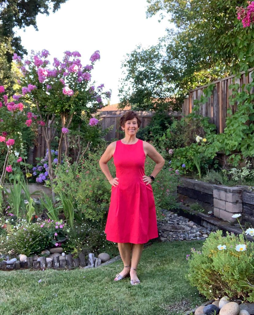 Red sateen dress 8