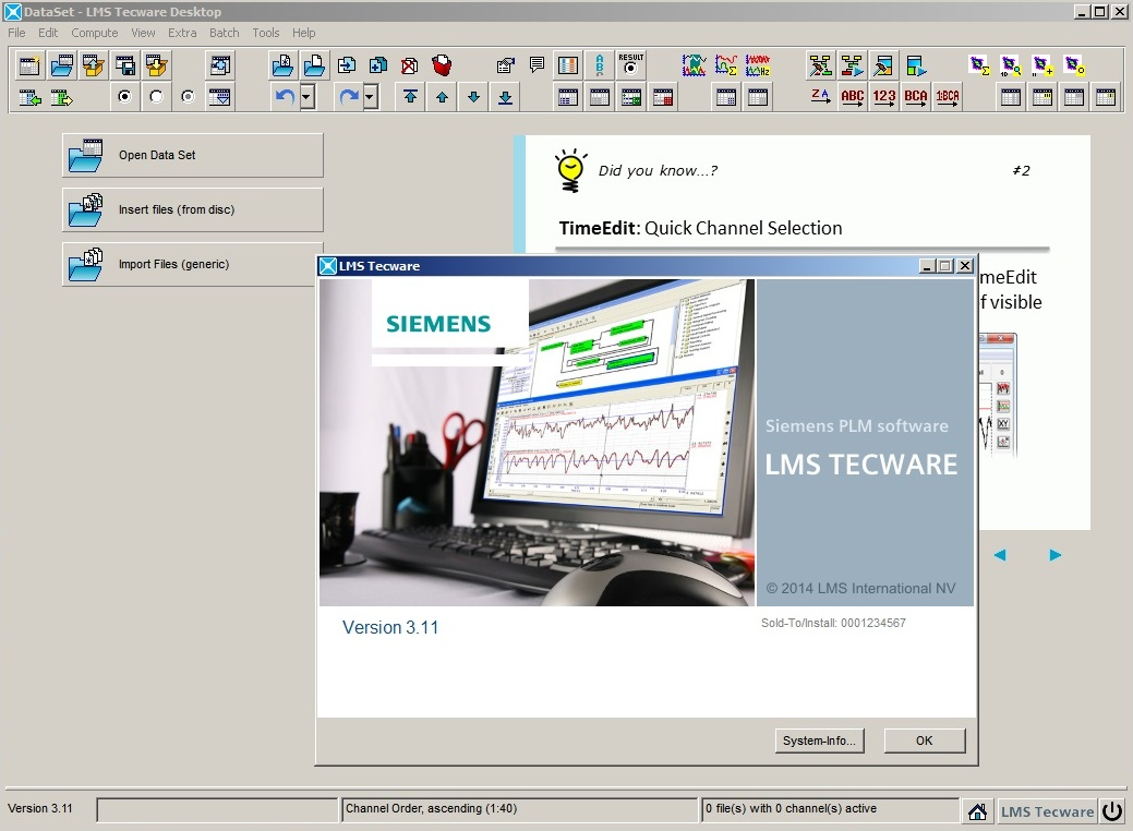 Working with Siemens LMS TecWare 3.11 full license