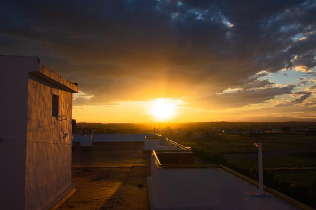 Puesta de sol en Valencia desde mi azotea 2633