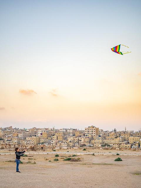 Kiting on Citadel Hill, Amman