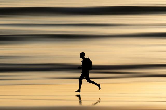 Runner on the Shore