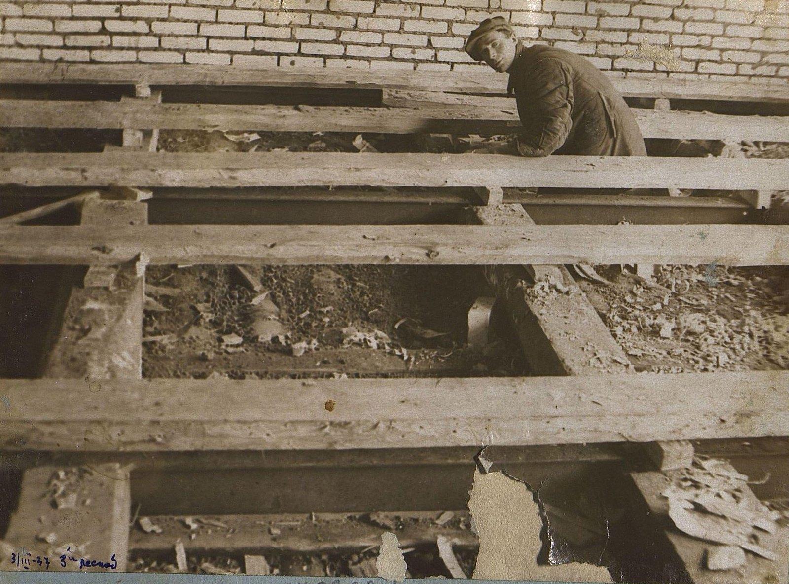 21. 1937. Строительство школы на 3-й Лесной улице. 3 марта