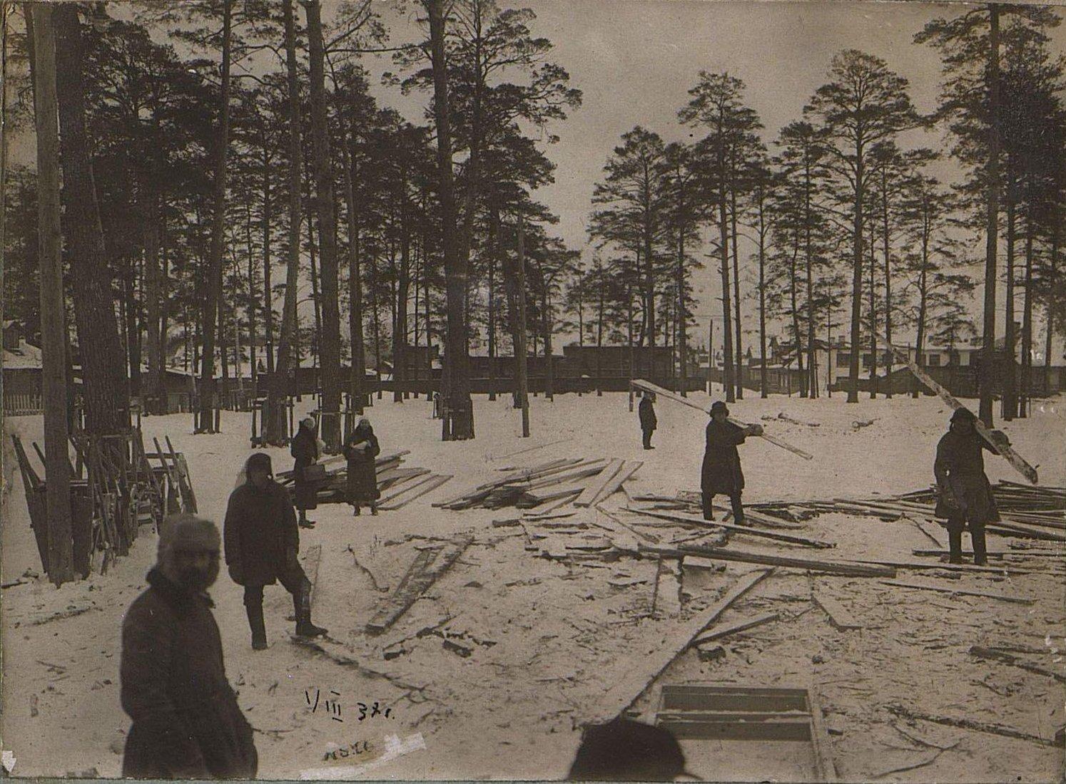 12. 1937. Строительство школы на Нижней Пресне. 1 марта.