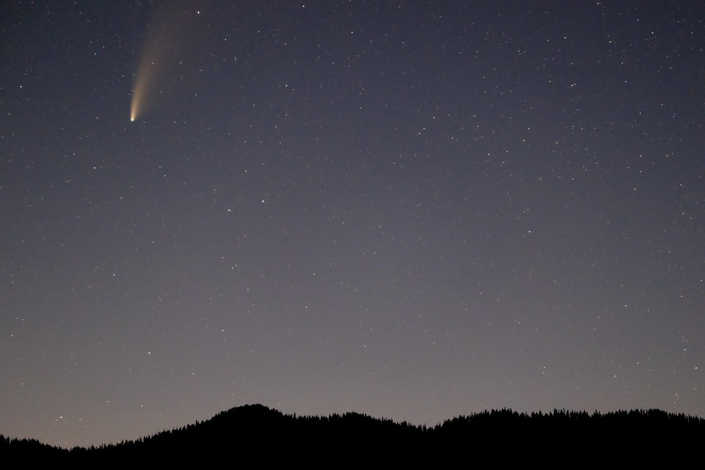 Neowise comet over Lake Quinault
