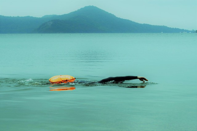 Open waters swimming