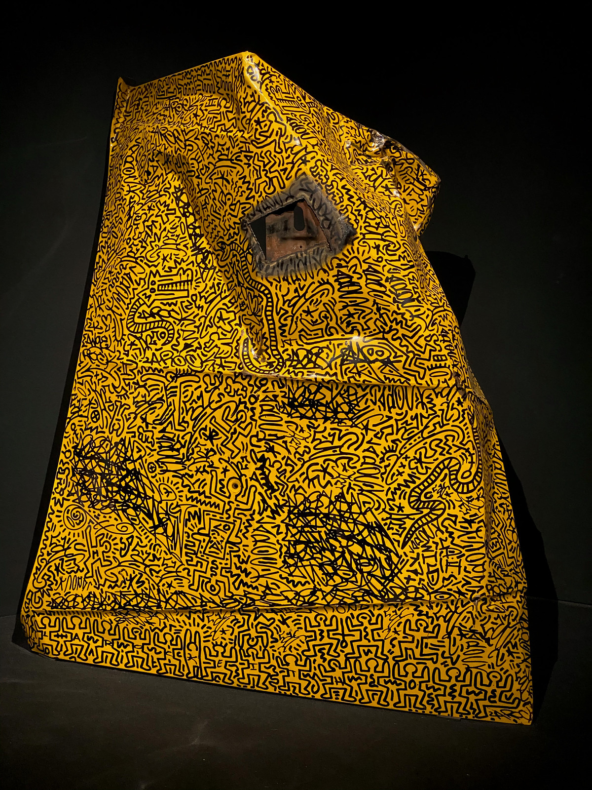 Scrap yellow cab hood by Keith Haring