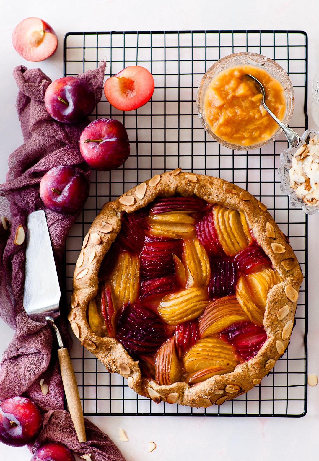 vegan plum galette