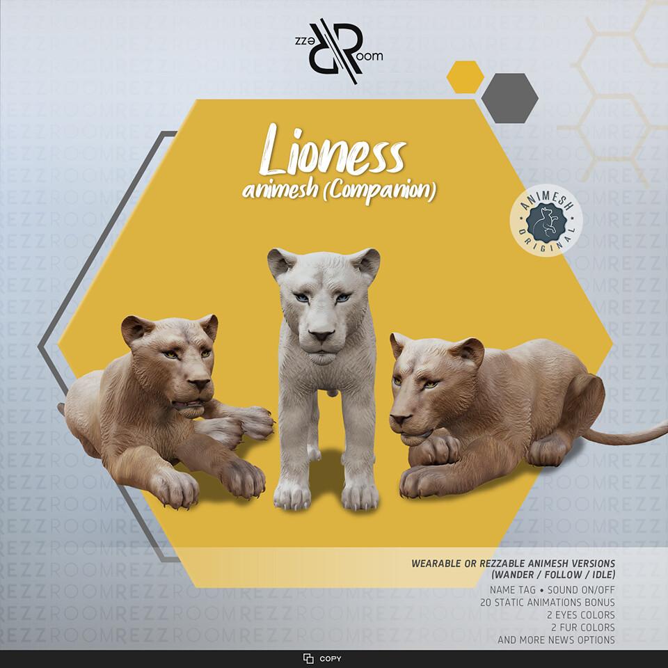 [Rezz Room] Lioness Animesh  (Companion)