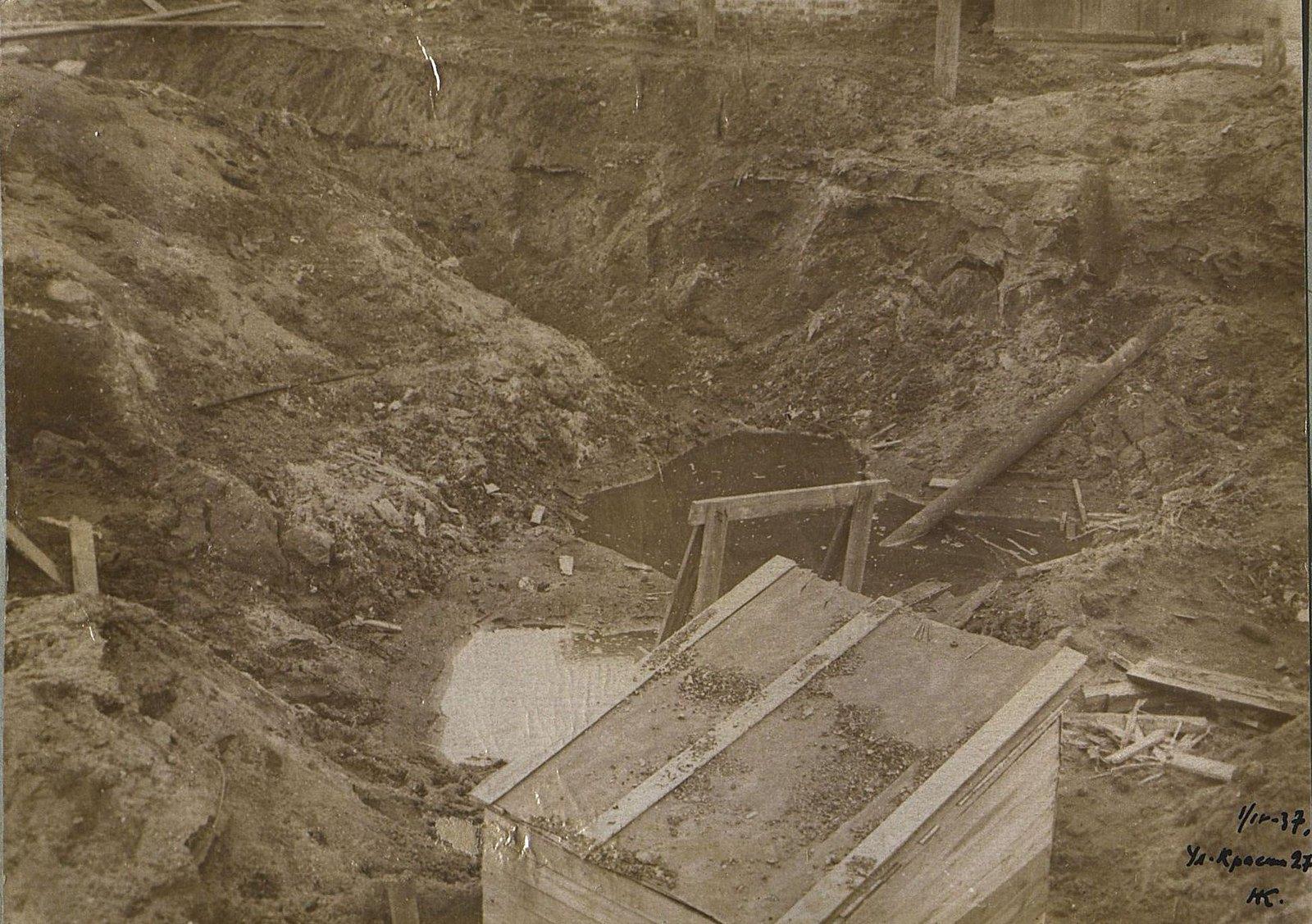06. 1937. Строительство школы на улице Красина, дом 27. 1 апреля