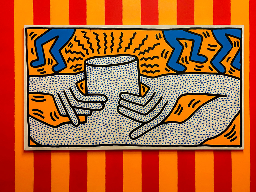 Dancing without a head by Keith Haring