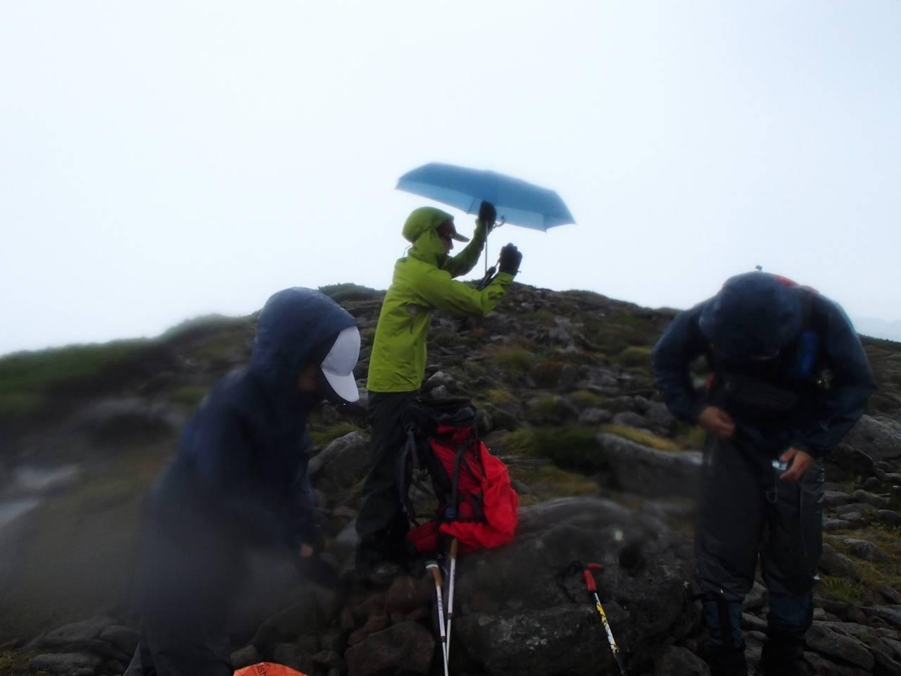 北海道・ニペソツ山 悪天候により撤退