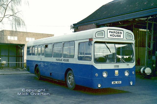 1970 AEC Swift SMD80 AML80H Edgware garage its home when new in June 1970 seen December 1980