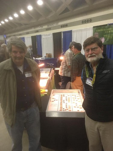 Alan Anthony and Roger Moore at 2019 C4 convention | by Numismatic Bibliomania Society