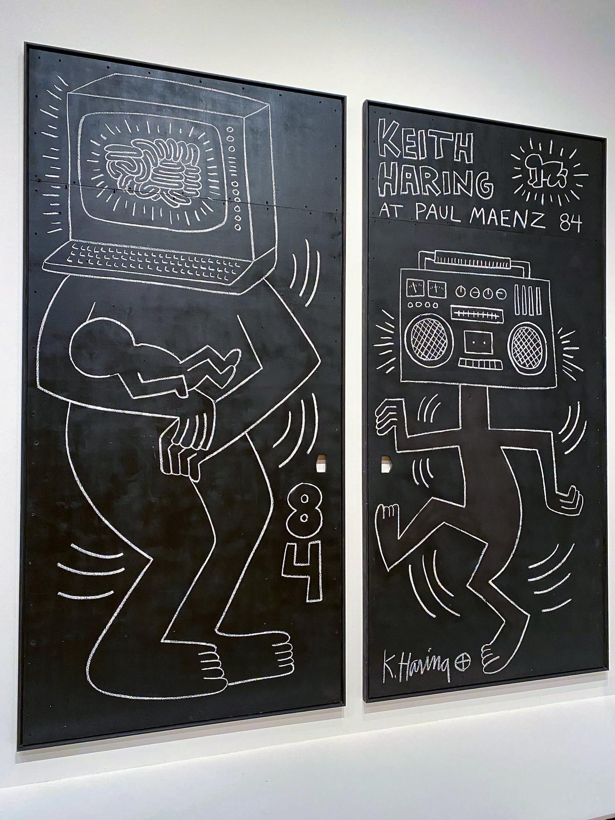 Keith Haring at Paul Maenz 1984