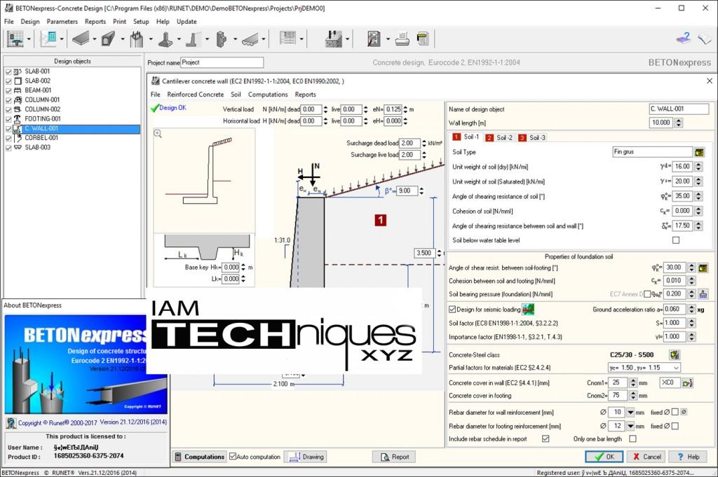 Working with RUNET BETONexpress 17.01 full license