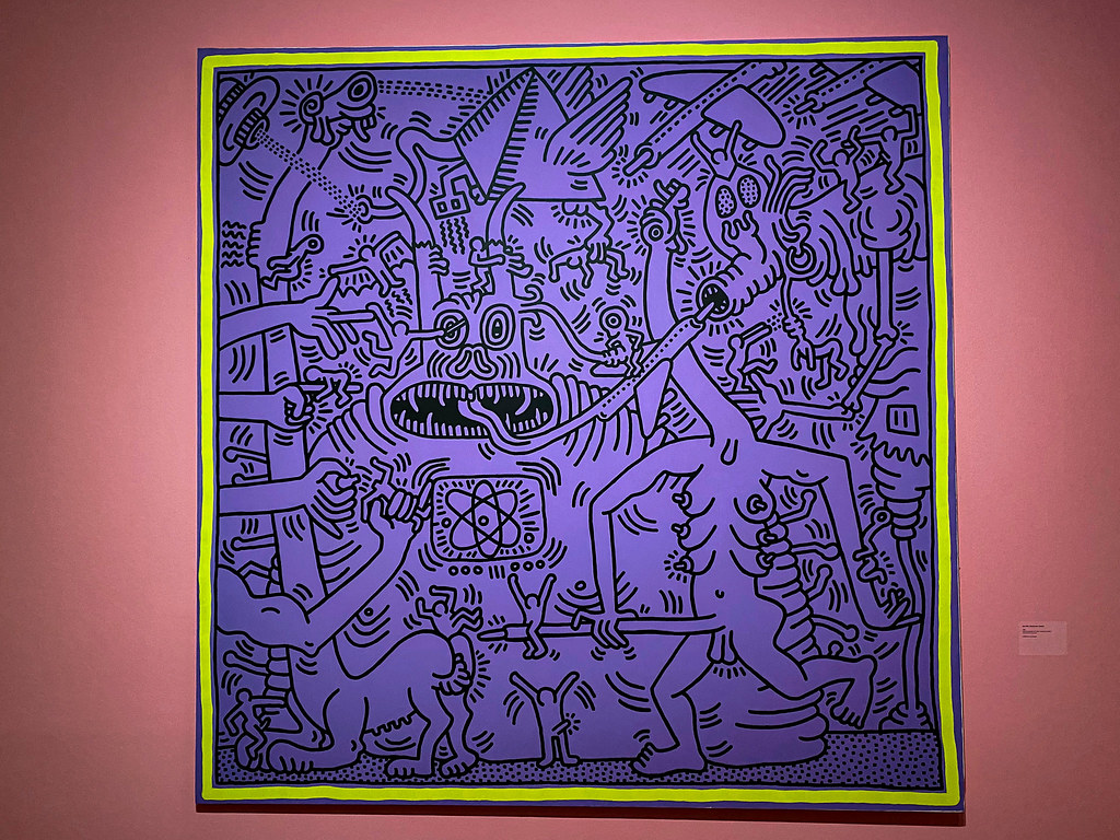 Untitield in Act UP NOW! Room by Keith Haring