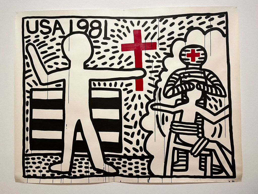 1981 - The year the AIDS virus was discovery by Keith Haring