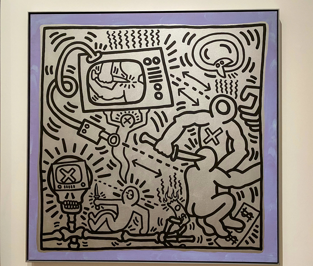 Violence on TV by Keith Haring