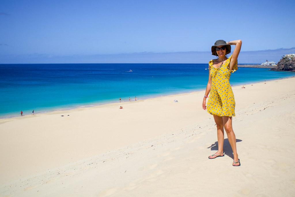 Playa de Morro Jable desde su duna en Fuerteventura