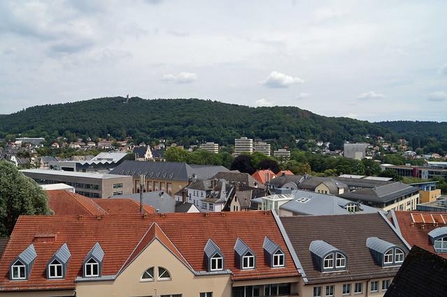 2020-07-19 002; Deutschlandtour; Marburg; Blick vom Oberstadtaufzug