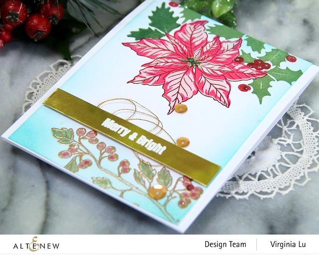 Altenew -Scrapbook.com-Winter Floral Stamp Set#3