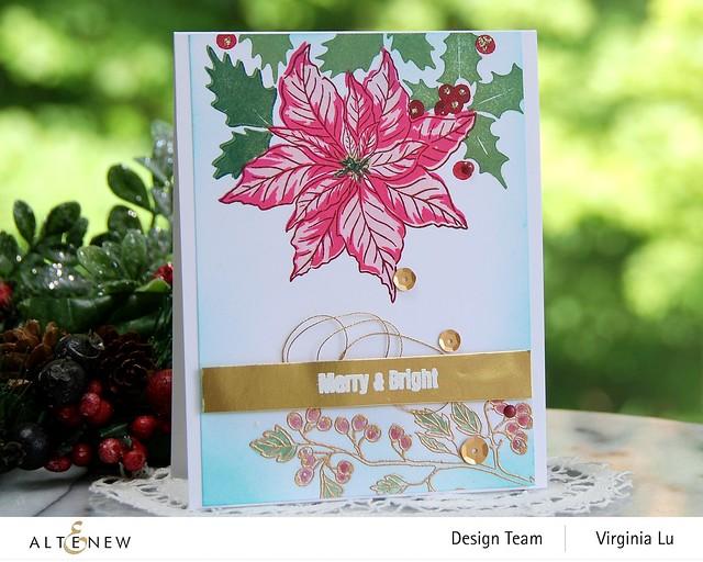 Altenew -Scrapbook.com-Winter Floral Stamp Set#2