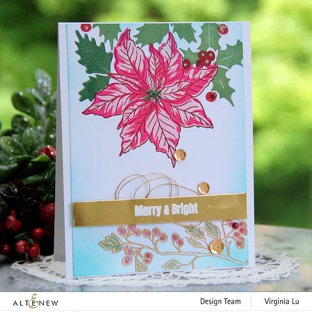 Altenew -Scrapbook.com-Winter Floral Stamp Set#1