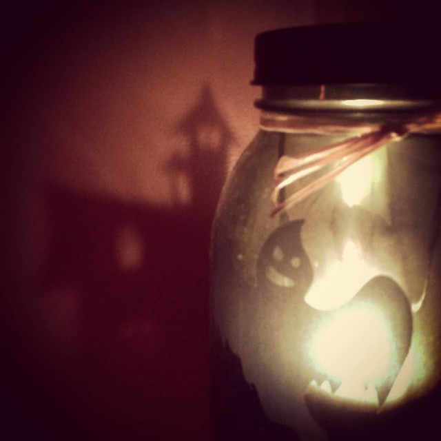 Candle Jar Ghost