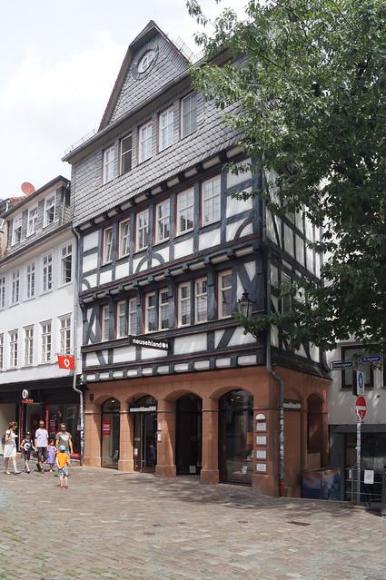 2020-07-19 003; Deutschlandtour; Marburg; Haus in der Wettergasse