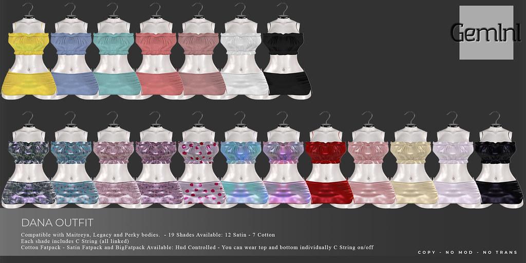 •Gemini -Dana Outfit- 19 Shades•