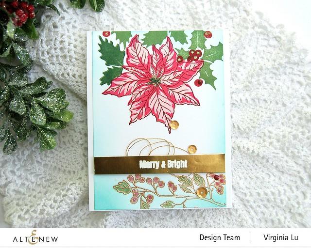 Altenew -Scrapbook.com-Winter Floral Stamp Set#4