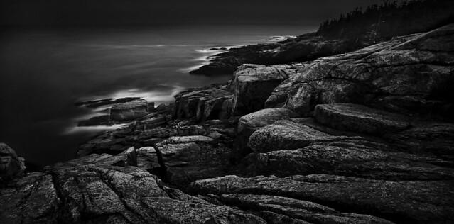 Coast of Maine...Acadia National Park on a Dark Day in Autumn