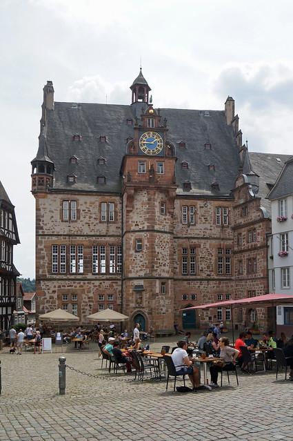 2020-07-19 004; Deutschlandtour; Marburg; Rathaus