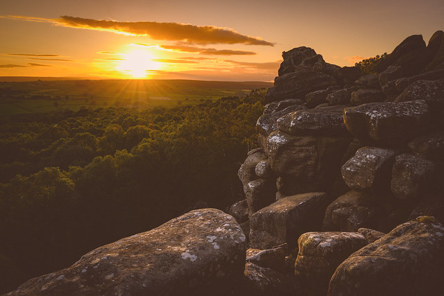Brimham Rocks Sunset, North Yorkshire