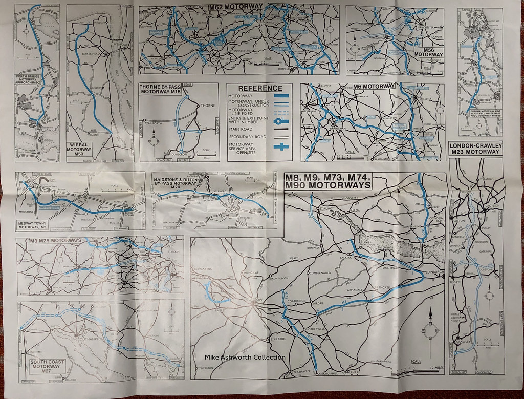 RAC - know your motorways, June 1972 - strip maps (2)