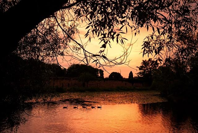 Sunset scene.. spot the ducks!