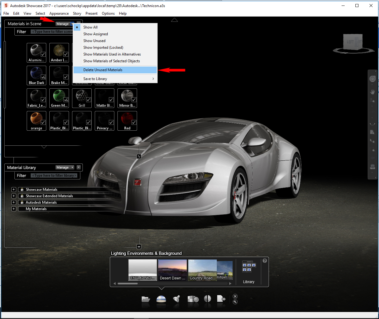 Working with Autodesk Showcase 2017 full license