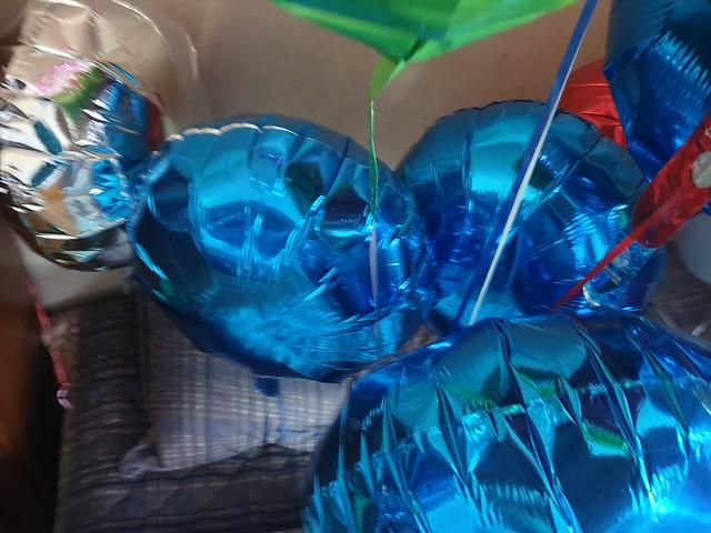Anagram Blue Round Mylar Balloon