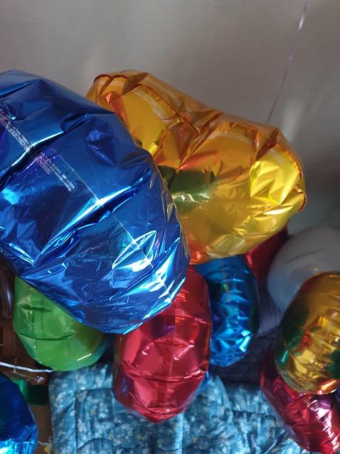 Dark Blue Round & Gold Heart Mylar Balloons & More!