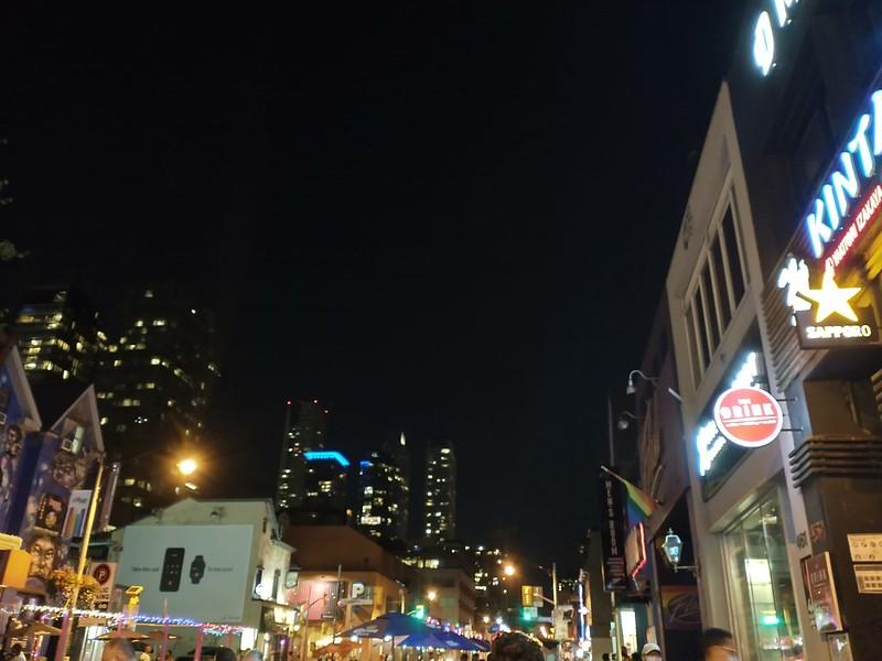 Church Street, just after midnight #toronto #churchstreet #churchandwellesley #night #nightclubbing #covid19toronto