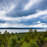 Lake skies 3/14, Tällberg, July 7, 2020