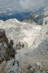 View back to the first short section of via ferrata