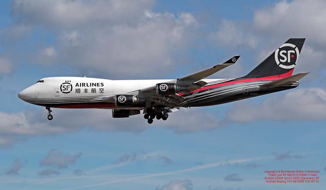 B-2422 EDDF 03-07-2020 (Germany) SF Airlines Boeing 747-4EVERF CN 35173