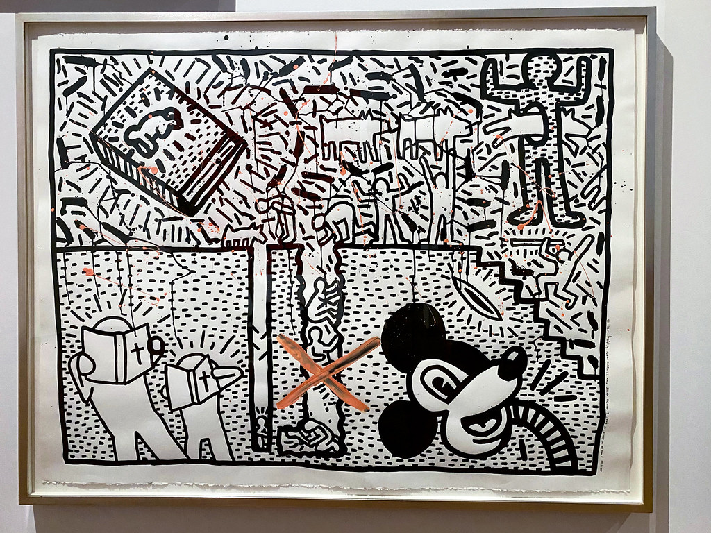 The Murder of John Lennon dreamed by Keith Haring