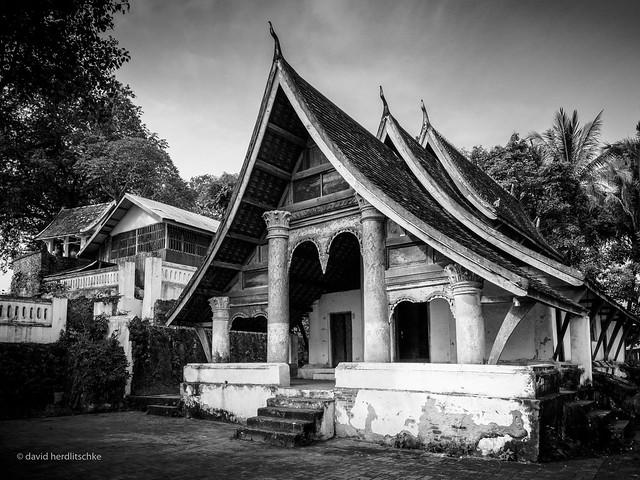 Luang Prabang Temple BW