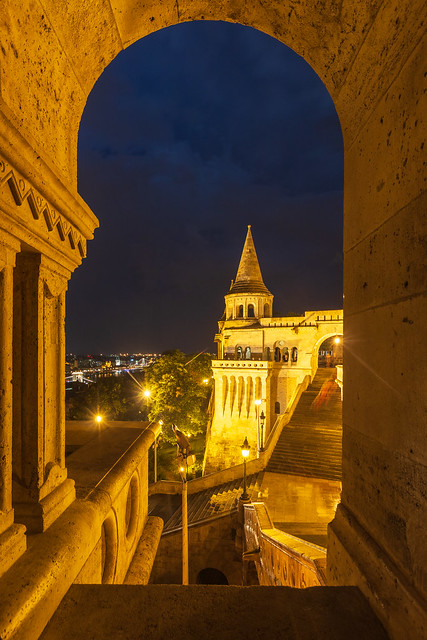 Fisherman's bastion at blue hour