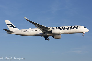 OH-LWA Airbus A350-900 Finnair Heathrow Airport EGLL 25.02-19