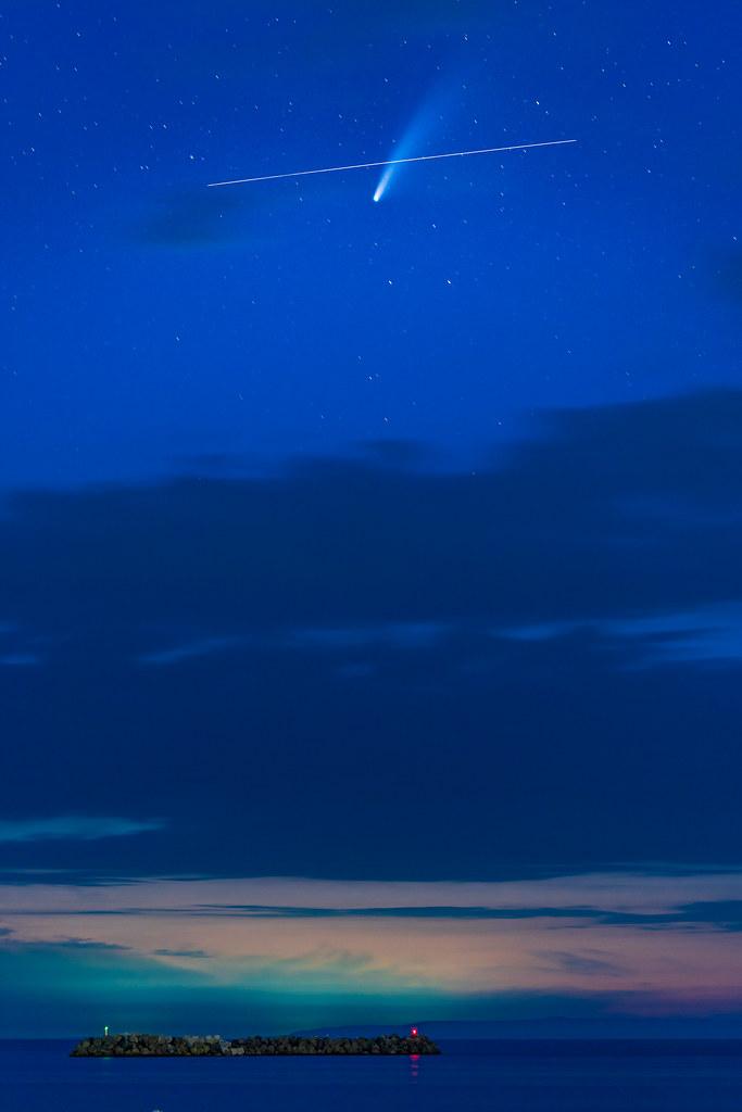 ネオワイズ彗星 と 国際宇宙ステーション