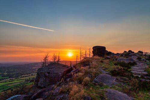 sunset peak district landscape leek england unitedkingdom
